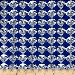 Moda Tide Pool Scallop Shells Royal