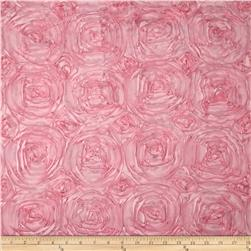 Rosette Satin Light Pink Fabric