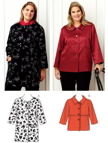 Kwik Sew Womens Jacket Plus Size Pattern