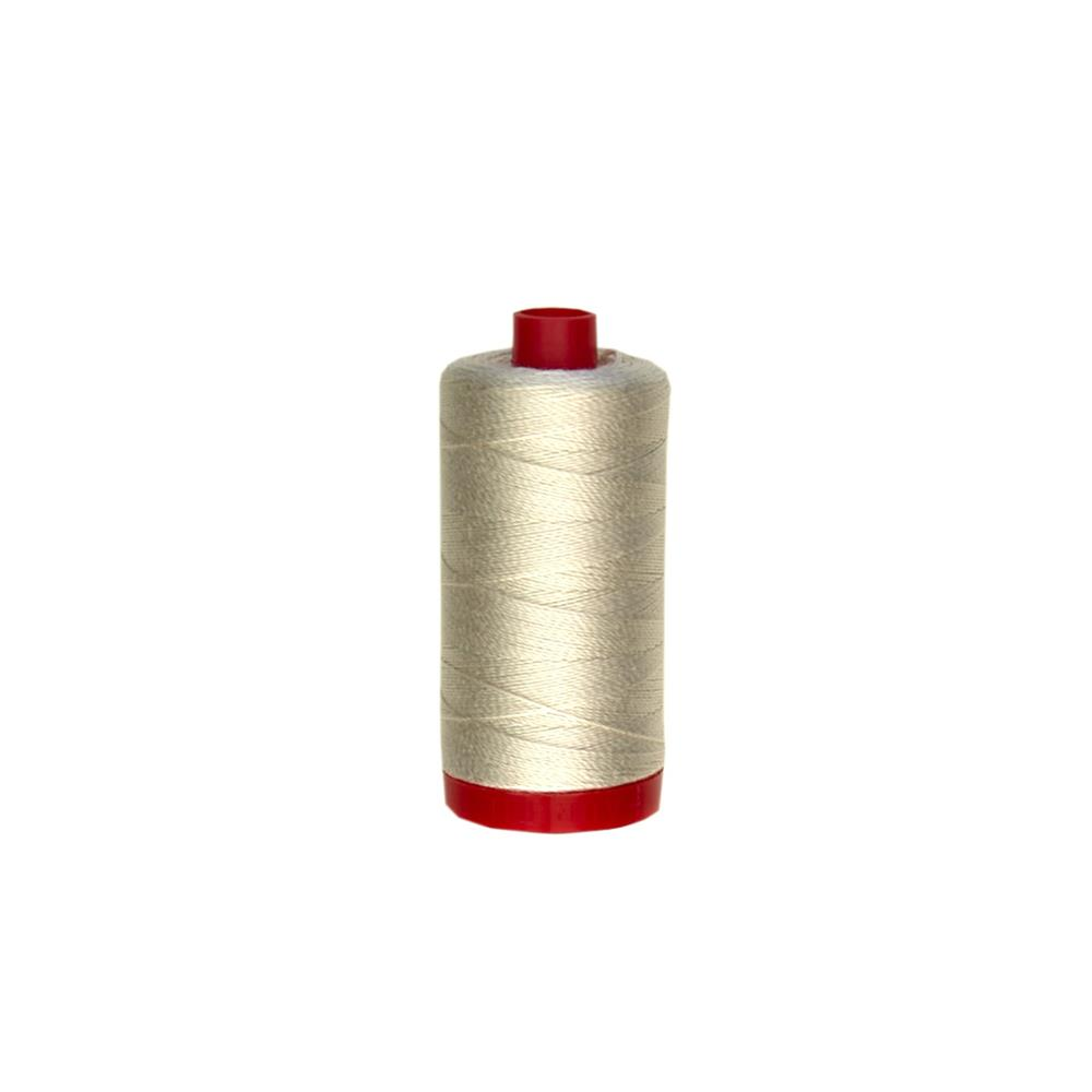 Aurifil 12wt Embellishment and Sashiko Dreams Thread Silver White