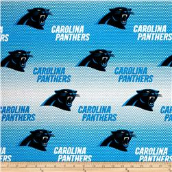 NFL Cotton Broadcloth Carolina Panthers Blue/White