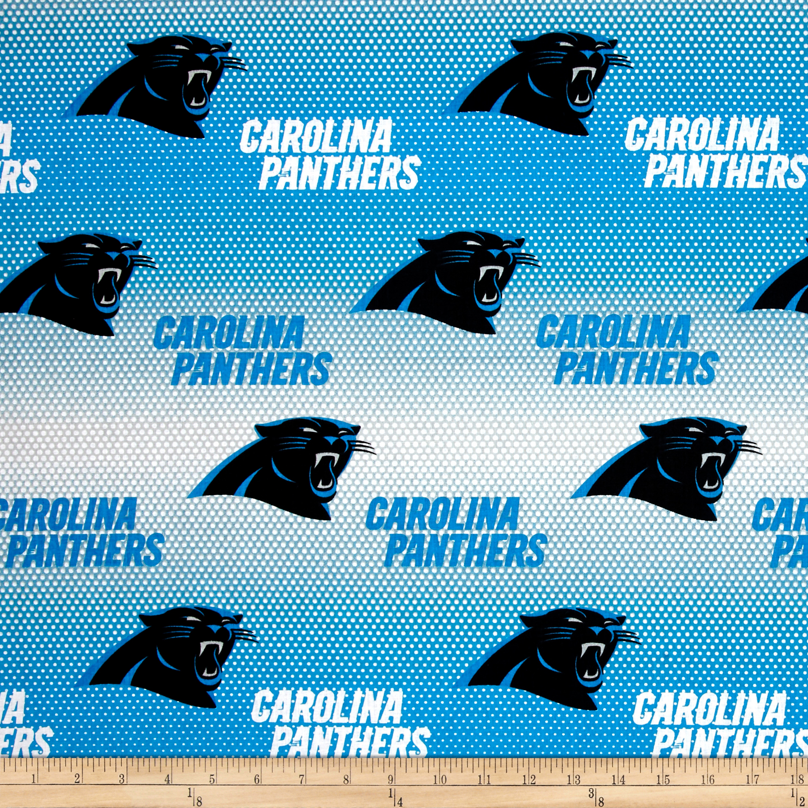 NFL Cotton Broadcloth Carolina Panthers Blue/White Fabric by Fabric Traditions in USA