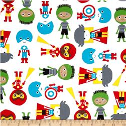 Super Kids Super Boys Green Primary Fabric