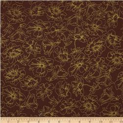 Nuance Floral Toile Brown