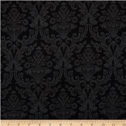 Christmas Tidings Damask Black