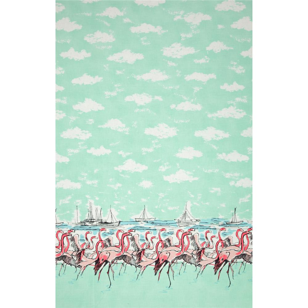 Michaell Miller Flamingo Border Seafoam