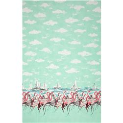 Michael Miller Flamingo Border Seafoam