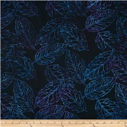 Jinny Beyer Malaam Batiks Fountain Leaf Midnight