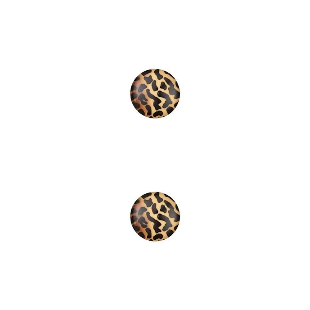 Dill Novelty Button 13/16'' Animal Print Beige