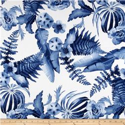 Monet Rayon Sateen Floral Blue/White