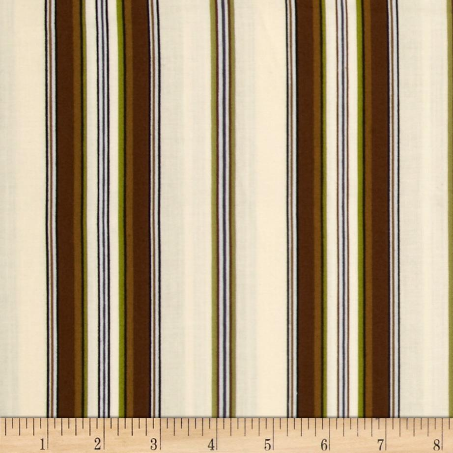 Mayfair Wide Stripe Ivory/Natural