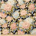 Robert Kaufman Imperial Collection Metallic Large Flowers Garden