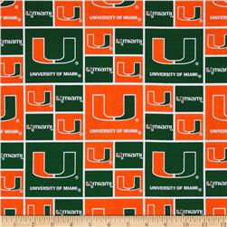 Collegiate Cotton Broadcloth University of Miami Orange Fabric