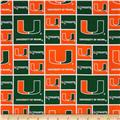 Collegiate Cotton Broadcloth University of Miami