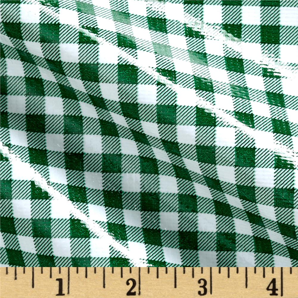 Oil Cloth Gingham Green/White