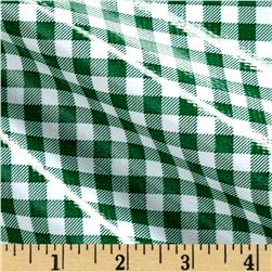 Oilcloth Gingham Green/White
