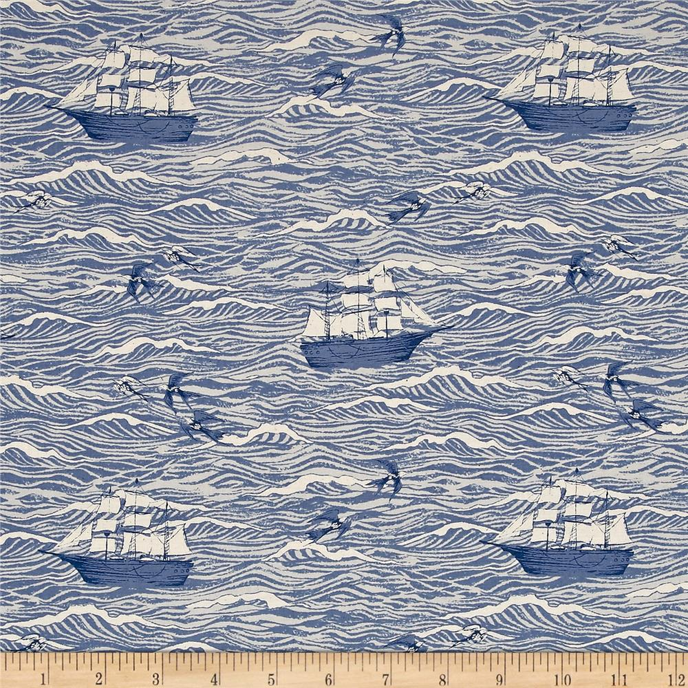 Cotton + Steel S.S. Bluebird Out To Sea Blue
