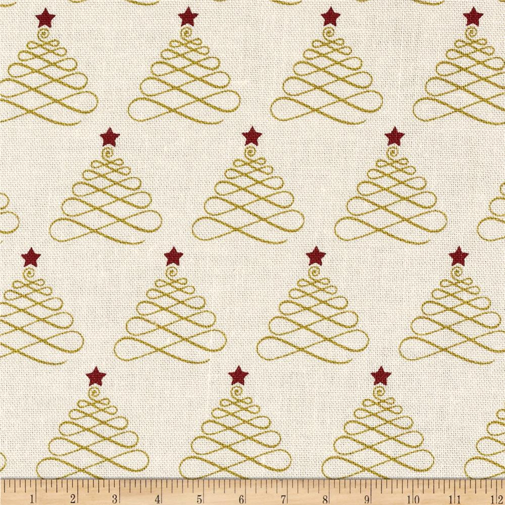 Riley Blake Lost & Found Christmas Trees Cream