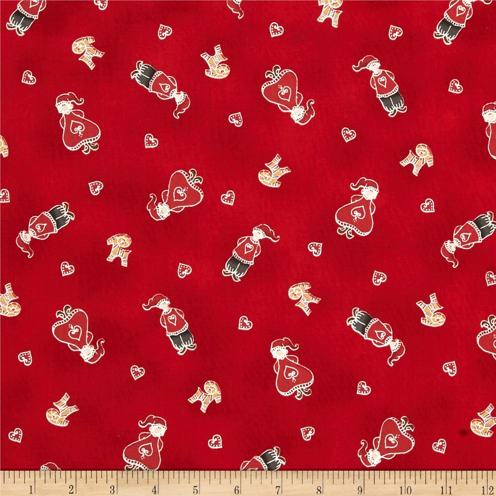 Lecien yuletime cozy christmas nisse kids red discount for Unique childrens fabric