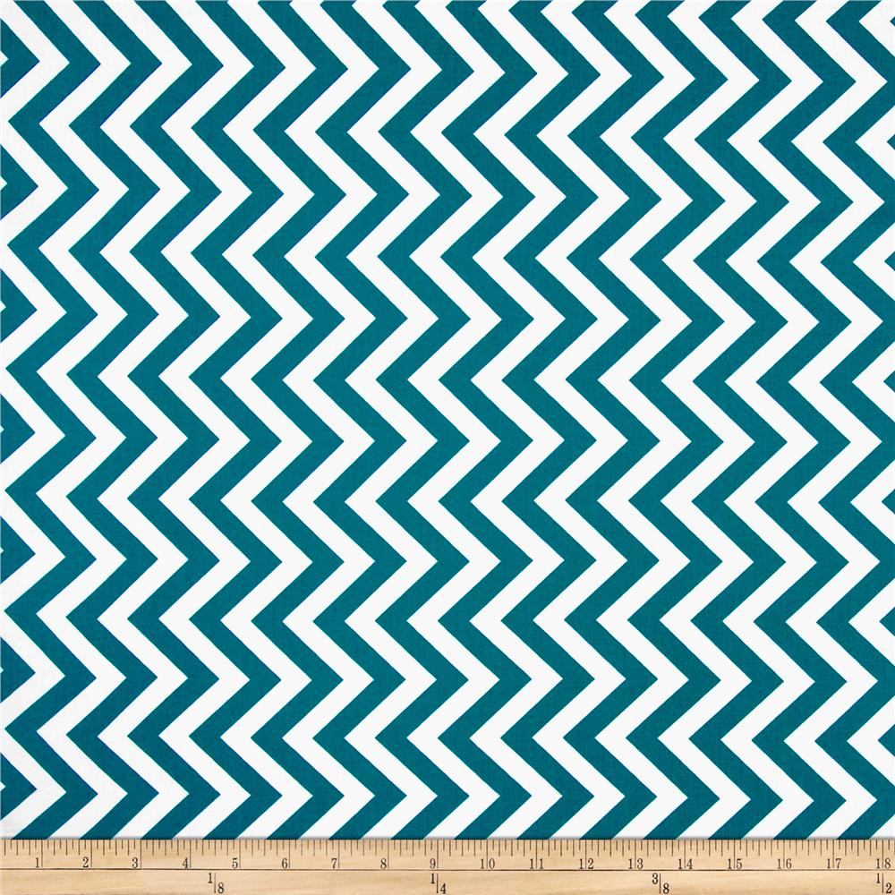 Moda Half Moon Modern Medium Zig Zag Horizon Blue