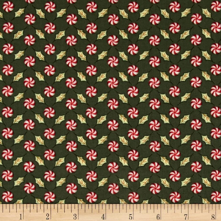Christmas Whimsy Peppermints Dark Green