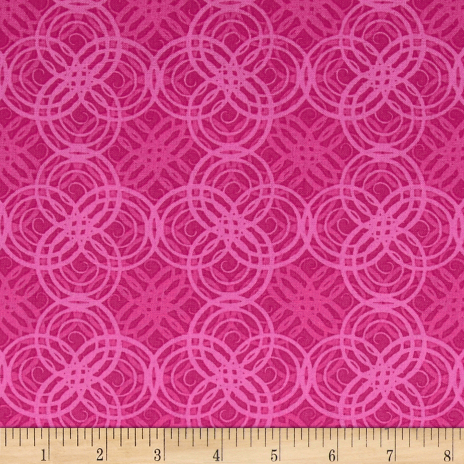 Hot Topic Concentric Tonal Circle Azalea Fabric