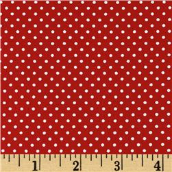 Pimatex Basics Mini Dots Red Fabric
