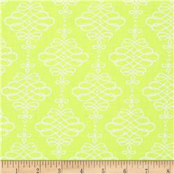 Neon & On Scroll Neon Yellow Fabric