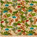 Tropical Travelogue Floral Cream Multi