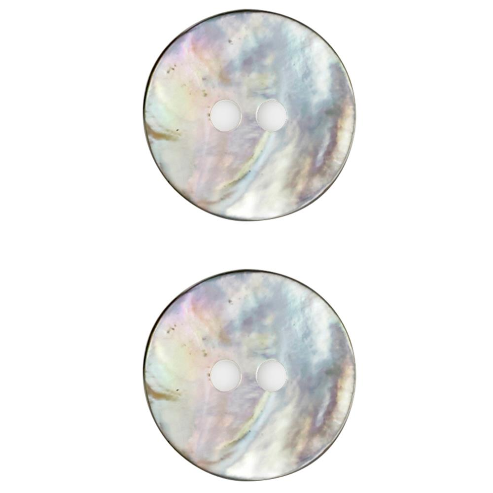11/16'' Mother of Pearl Buttons White