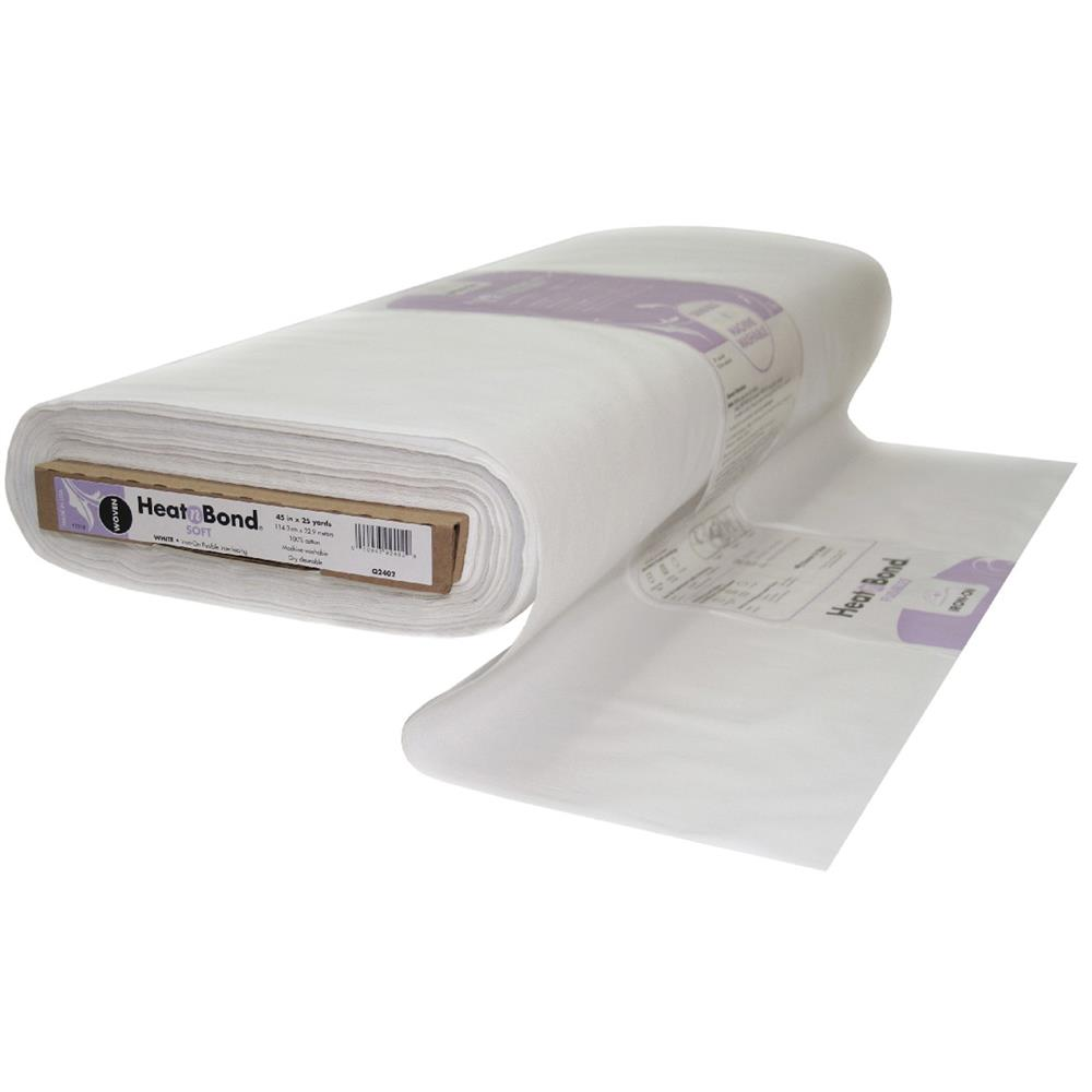 Heat'n Bond Woven Fusible - Soft - White - 45'' - By the Yard
