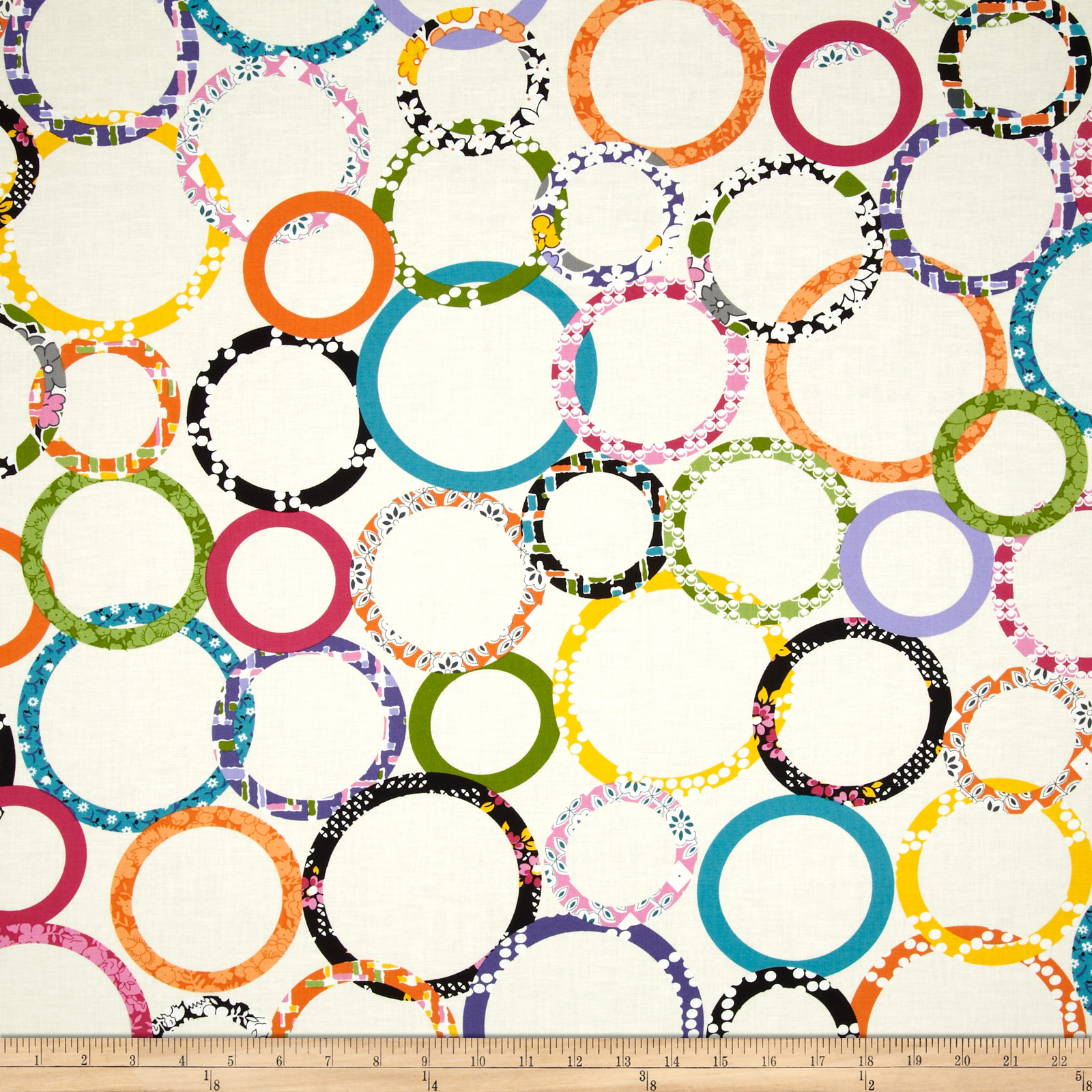 Downtown Rings Cream Fabric
