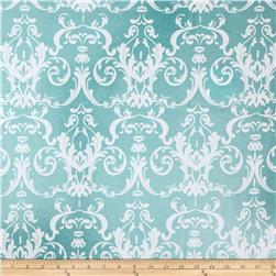 Riley Blake Halle Rose Laminate Damask Teal