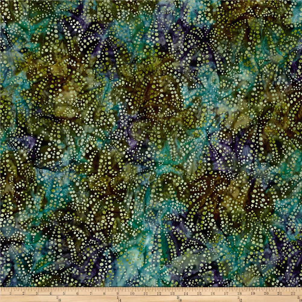 Kaufman Artisan Batiks Tiger Fish Bubble Spray Peacock