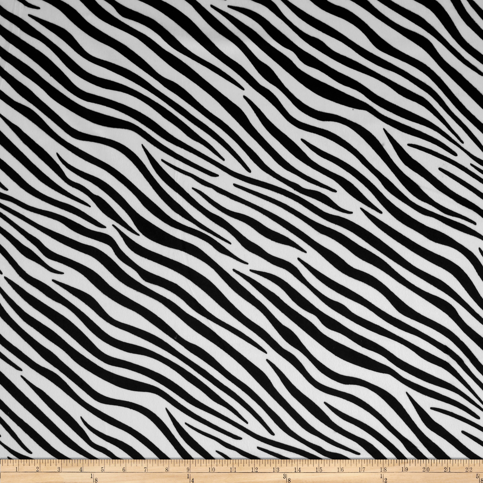 Animal Print Zebra Black/White Fabric