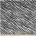 Animal Print Soft Fur Zebra Black/White