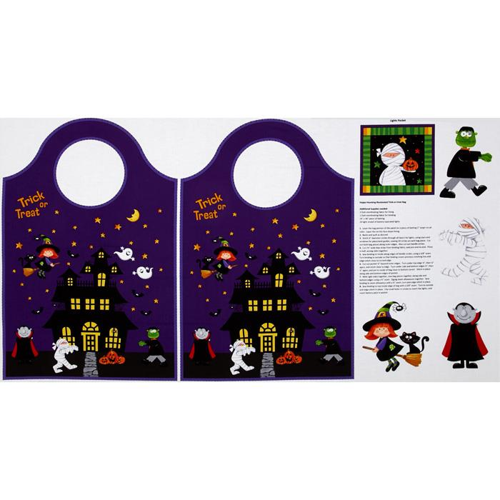 Happy Haunting 24 In. Tote Panel Purple