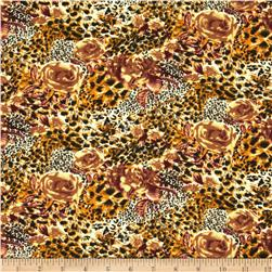 Jungle Safari Broadcloth Cheetah Rose Orange