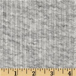 Cotton 3 x 1 Rib Knit Heather Ash