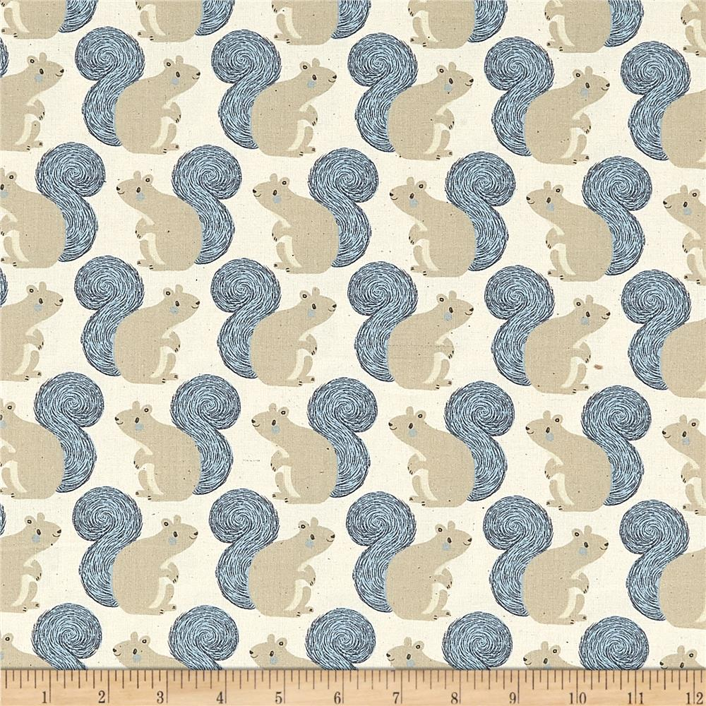 Cotton+Steel Magic Forest Squirrels Neutral