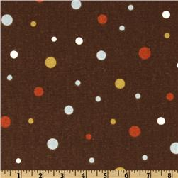 Premier Prints Mud Dots Village Brown