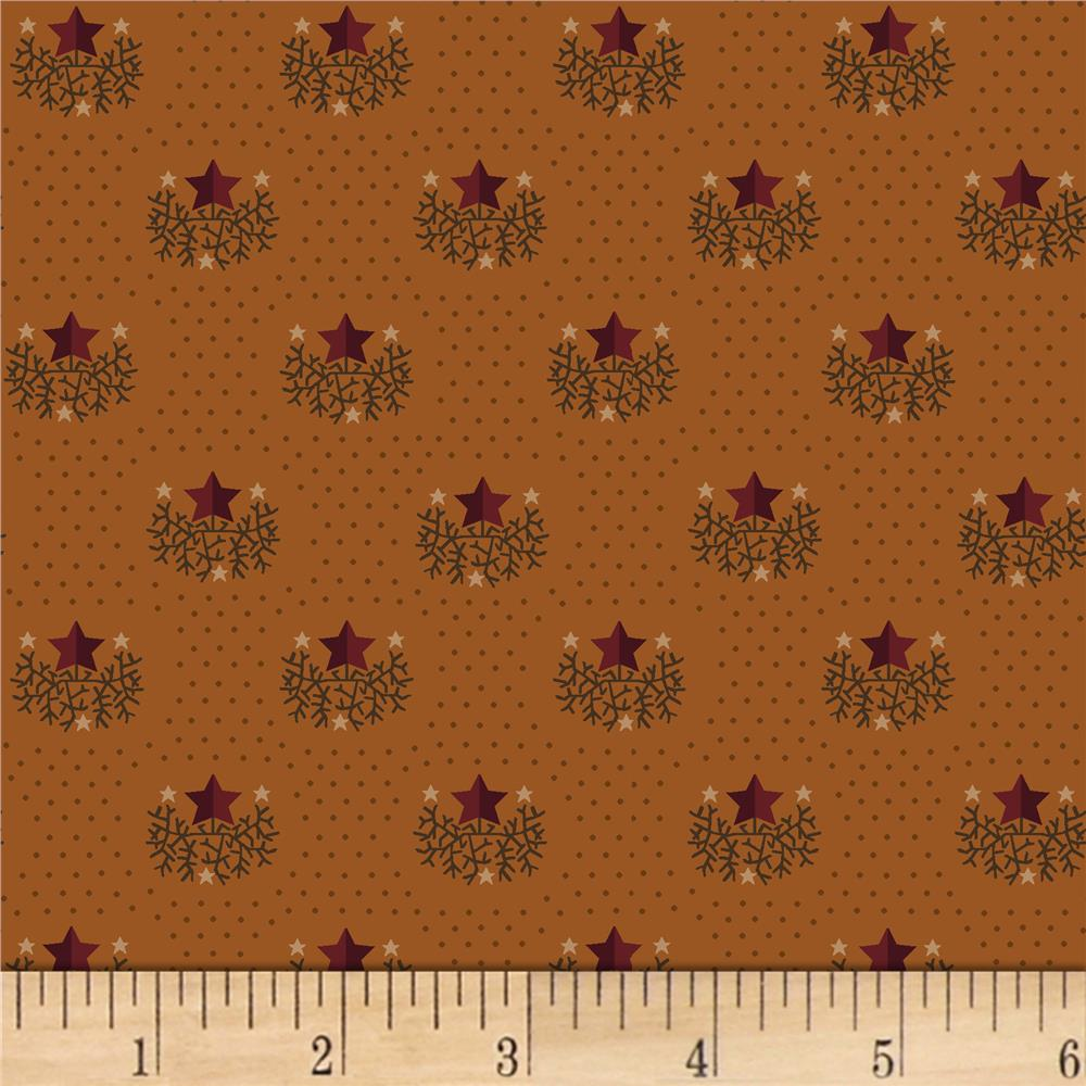 Kim diehl helping hands star orange discount designer for Star design fabric