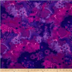 Mariposa Meadow Watercolor Purple/Blue