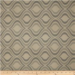Richloom Vinyl Vandome Quatrefoil Navy Fabric