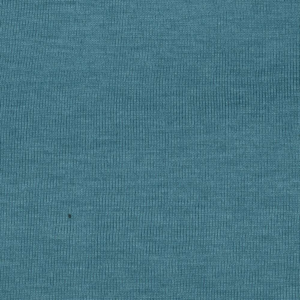 Cotton Poly Baby Rib Knit Heather Smoke Blue