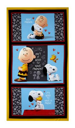 "Peanuts Good Friends 23.5"" Panel Multi"