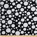 "110"" Wide Quilt Back Bubbles Black/White"
