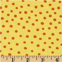 Moda ABC Menagerie Bubble Dots Sunshine