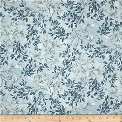 Kaufman Winter White Metallic Birds Frost