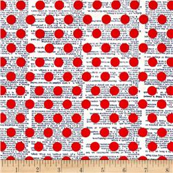Riley Blake Lost & Found America Dots Red